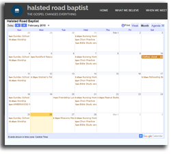 Online Church Calendar Baptist Rockford